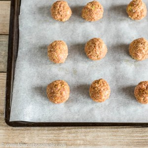Meatballs on the baking sheet | Low-Carb, So Simple
