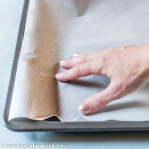 Lining a Baking Sheet with Parchment Paper | Low-Carb, So Simple