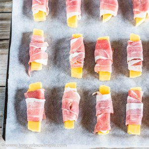 Bacon-Wrapped Sticks on a Baking Sheet | Low-Carb, So Simple
