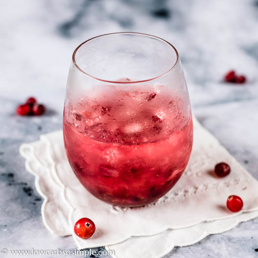 Sugar-Free Cranberry Caipirinha | Low-Carb, So Simple