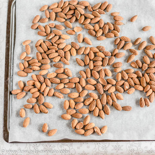 Almonds on a Baking Sheet | Low-Carb, So Simple