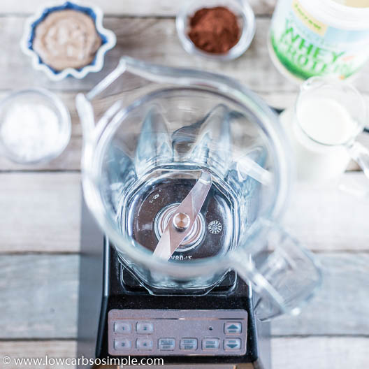 Ingredients for Chocolate Almond Keto Smoothie | Low-Carb, So Simple