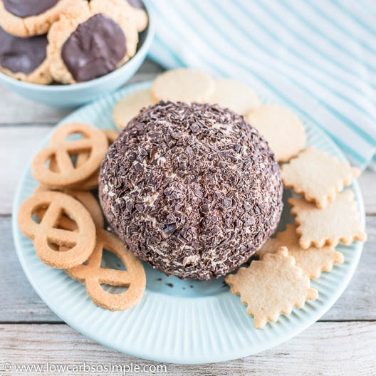 Chocolate Chip Cheese Ball | Low-Carb, So Simple