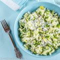 Green and Crunchy Shirataki Rice Salad | Low-Carb, So Simple
