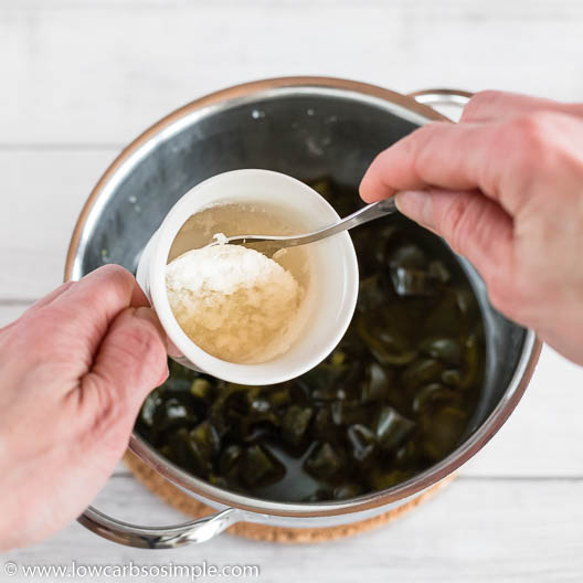 Adding Gelatin Mixture | Low-Carb, So Simple