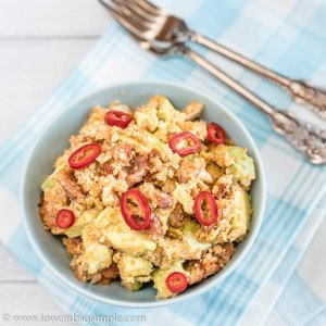 Spicy Stir-Fried Cauli Rice with Bacon and Avocado | Low-Carb, So Simple