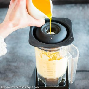 Adding Melted Butter | Low-Carb, So Simple
