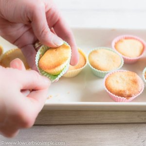 Removing from the Silicone Muffin Cups   Low-Carb, So Simple