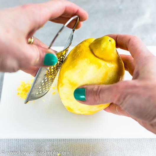 Grating Lemon | Low-Carb, So Simple