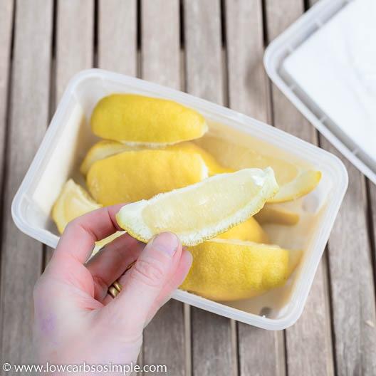 Frozen Lemon Wedges | Low-Carb, So Simple
