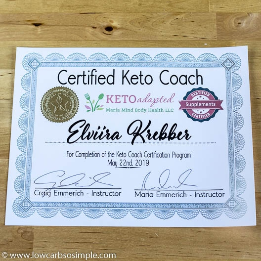 Keto Coach Certificate   Low-Carb, So Simple