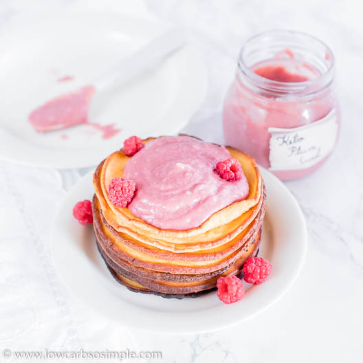 Lupin Pancakes with Keto Plum Curd | Low-Carb, So Simple