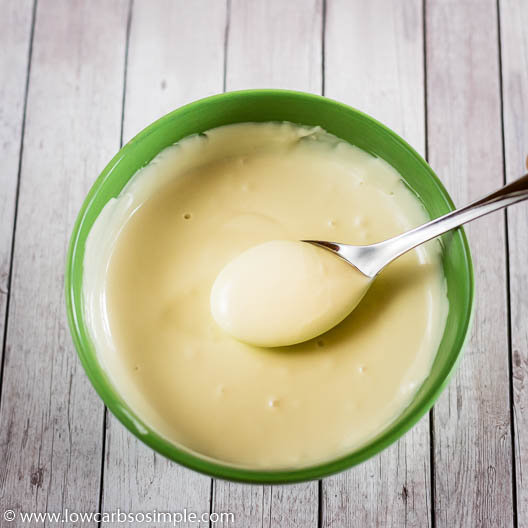 Melted Sugar-Free White Chocolate | Low-Carb, So SImple