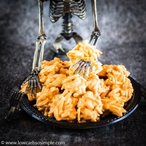 Scaringly Easy Halloween Haystacks | Low-Carb, So SImple
