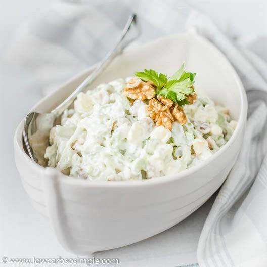 4-Ingredient Keto Waldorf Salad