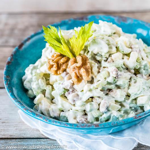 4-Ingredient Keto Waldorf Salad | Low-Carb, So Simple