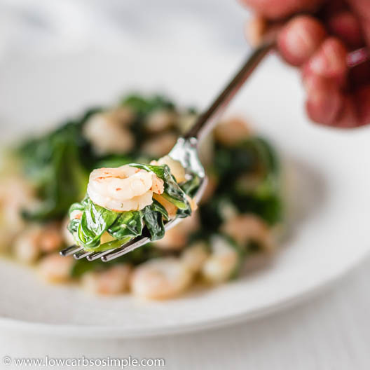 Flavorful Sauteed Spinach and Shrimp