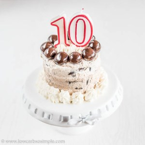 10th Anniversary Cake | Low-Carb, So Simple