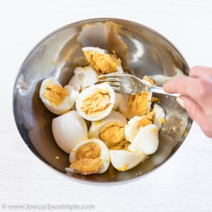 Mashing Perfectly Boiled Eggs | Low-Carb, So Simple