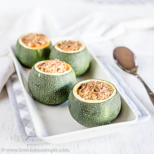 Stuffed Round Zucchini | Low-Carb, So Simple