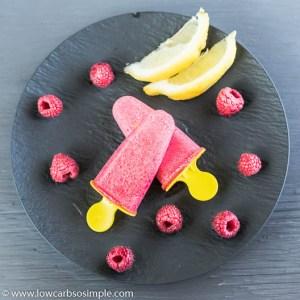 4-Ingredient Keto Raspberry Lemon Popsicles | Low-Carb, So Simple