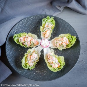 Salmon Ceviche on Lettuce Leaves | Low-Carb, So Simple