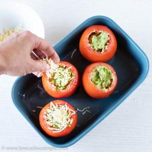 Sprinkling Mozzarella on Top | Low-Carb, So Simple