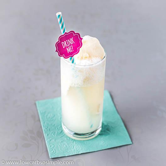 Peach Vanilla Keto Ice Cream Soda | Low-Carb, So Simple