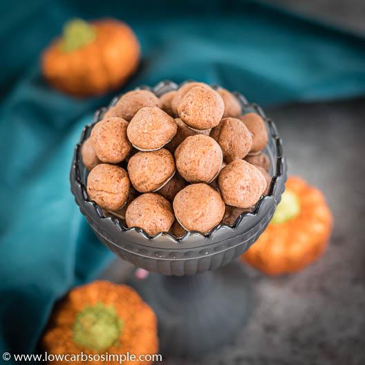 Keto Pumpkin Spice Cookie Dough Balls | Low-Carb, So Simple