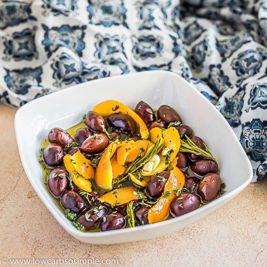 Easy Thyme and Orange Infused Marinated Olives   Low-Carb, So Simple