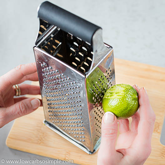 Grating Lime Peel | Low-Carb, So Simple