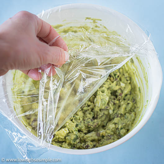 Removing Plastic Wrap | Low-Carb, So Simple