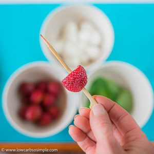 Strawberry in a Skewer | Low-Carb, So Simple