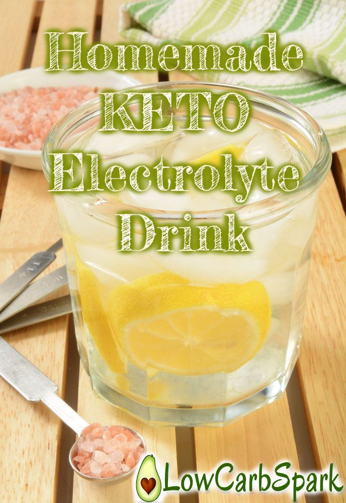 Homemade Keto Electrolyte Drink – Instant relief of keto-flu symptomes