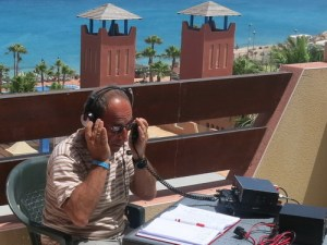 EA8/IW2NEF with his Yaesu FT 857D