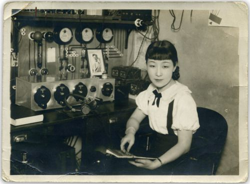 Sugita Chiyono 杉田千代乃 (J2IX) Japanese amateur radio - 1934