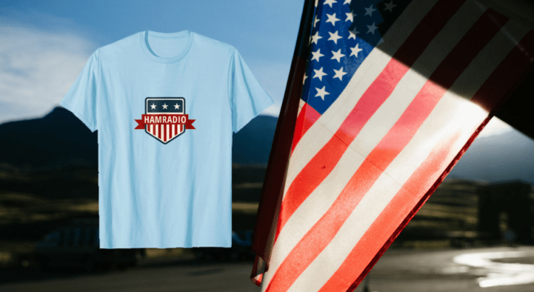 4th july U.S. Ham Radio T-Shirt - Patriotic shirts for men