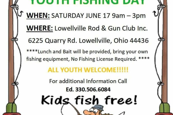 Welcome to the lowellville rod and gun club online for Ohio one day fishing license