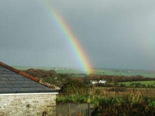 pic 20 view toward Dartmoor with rainbow