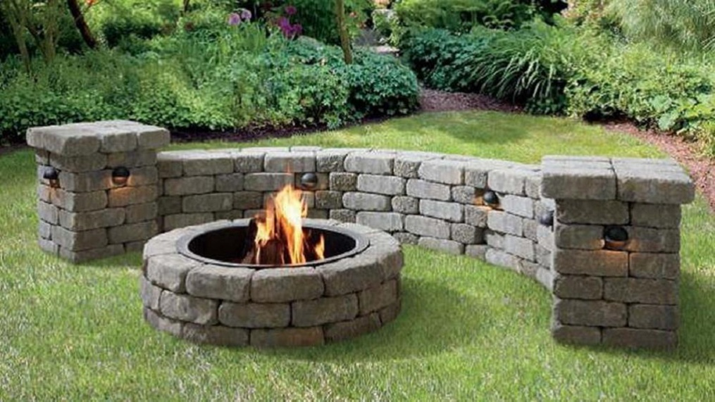 how to build a patio block fire pit