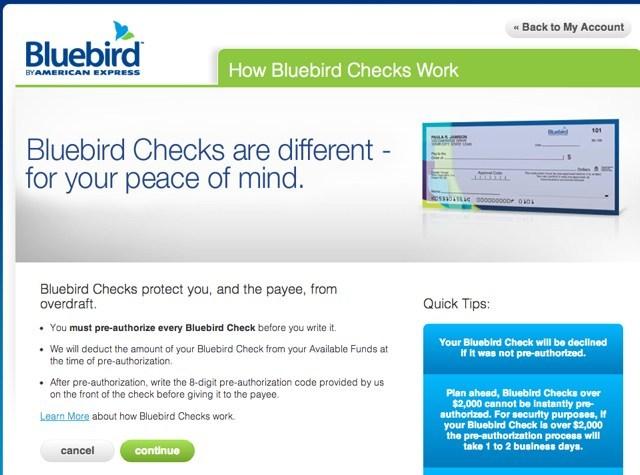 """""""Write Bluebird Checks"""""""
