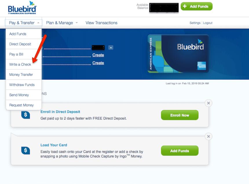 """""""Write bluebird check - step 1"""""""