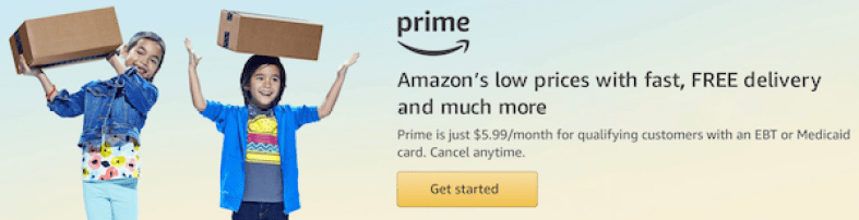"""Amazon Prime Discount for EBT Cardholders"""