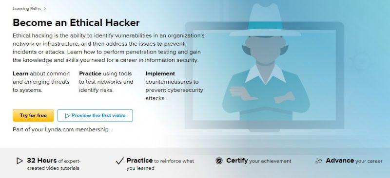 Lynda.com's Ethical hacking course