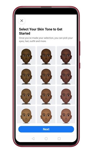 Select Skin Tone