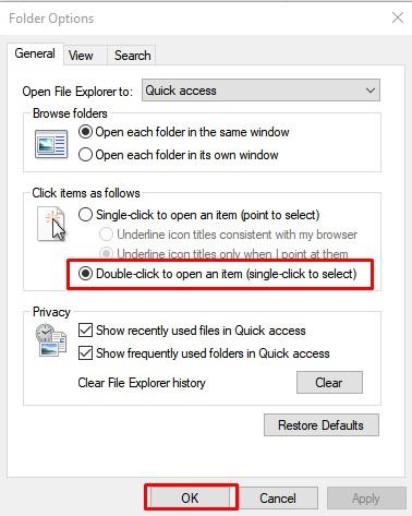 Check The Folder Options