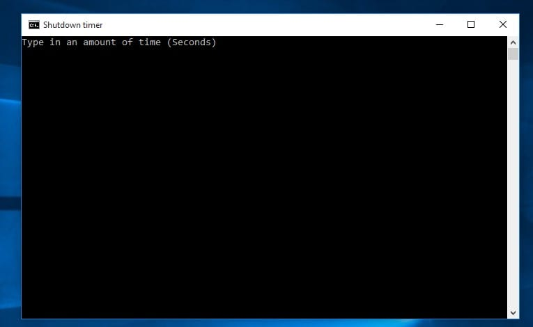Enter the time (in seconds) on the Command Prompt and hit the 'Enter' button