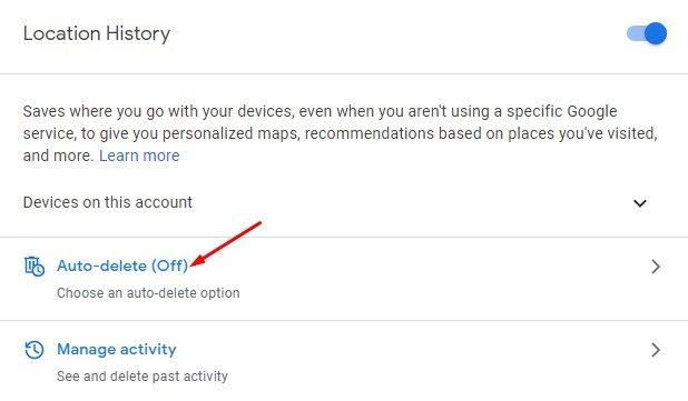 Click on the 'Auto-delete' option
