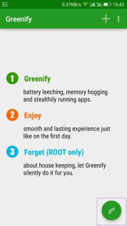 Using Greenify