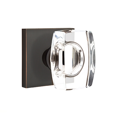 Emtek Modern Windsor Crystal Door Knob Set